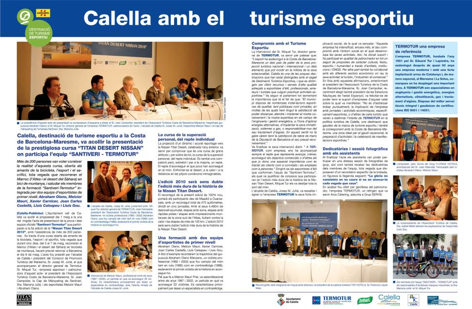 Calella amb el turisme esportiu