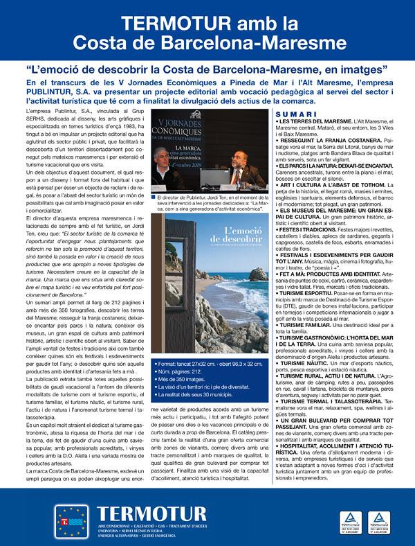 Termotur amb la Costa de Barcelona-Maresme